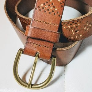 American Eagle leather belt (L) with gold hardware